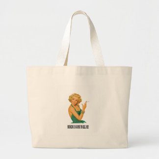death by smoke yeah large tote bag