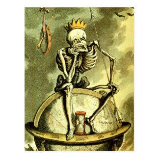 Death Conquers the Globe Postcard