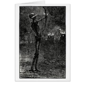 Death dealing arrows greeting card