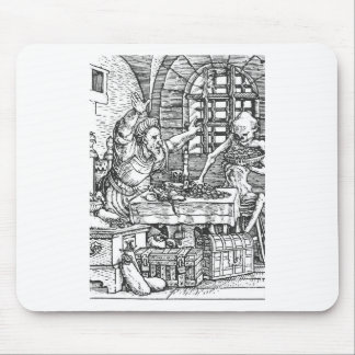 Death from The Dance of Death Hans Holbein Mouse Pad