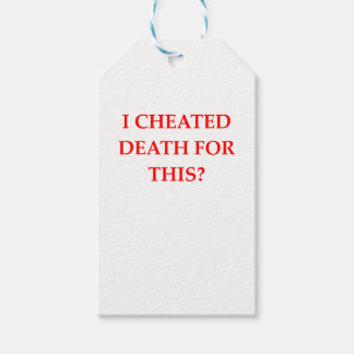 DEATH GIFT TAGS
