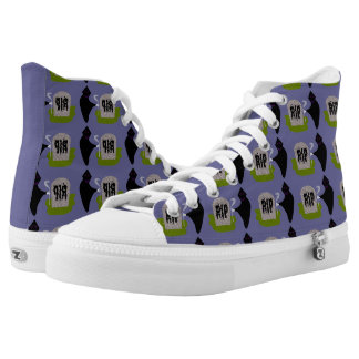 Death in the Cemetery Halloween Hi Top Shoes Printed Shoes