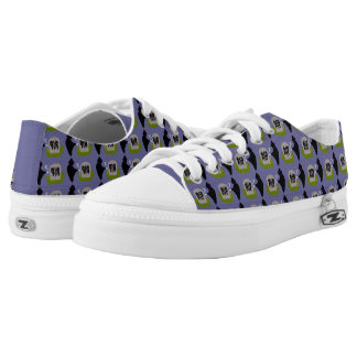 Death in the Cemetery Halloween Shoes Printed Shoes