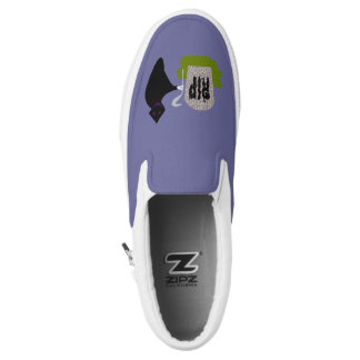 Death in the Cemetery Halloween Slip On Shoes Printed Shoes