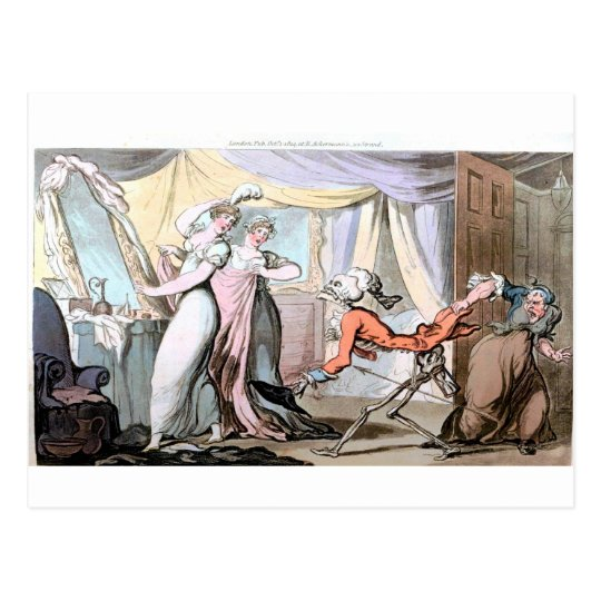 Death in the Ladies Boudoir  postcard