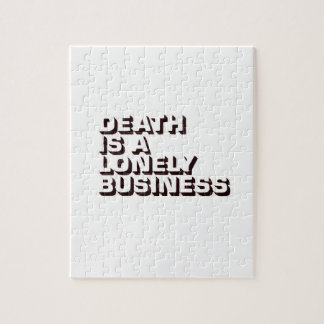 DEATH IS A LONELY BUSINESS PUZZLE