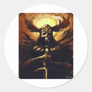 Death Knight Classic Round Sticker