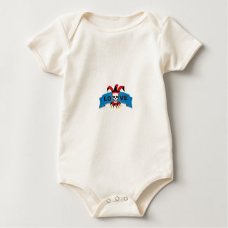 death love banner blue baby bodysuit