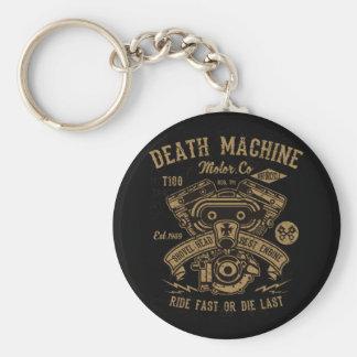 Death Machine Harley Motor Ride Fast or Die Last Key Ring
