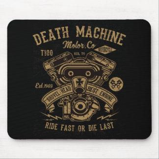 Death Machine Harley Motor Ride Fast or Die Last Mouse Pad