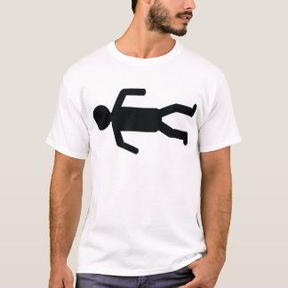 death man on floor icon T-Shirt