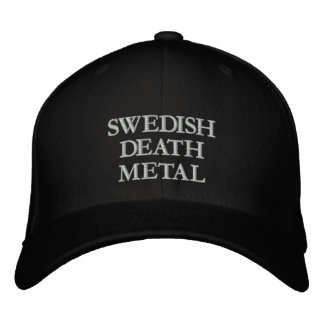 DEATH METAL EMBROIDERED BASEBALL CAP