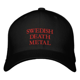 DEATH METAL EMBROIDERED BASEBALL CAPS