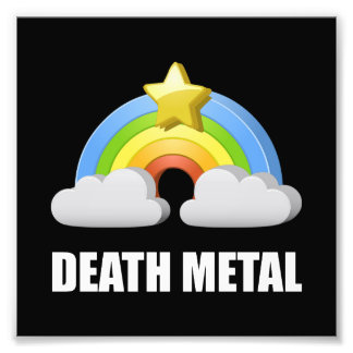Death Metal Rainbow Photo Print