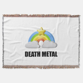 Death Metal Rainbow Throw Blanket