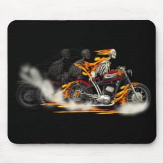 Death Metal Riders Motorcycle Fire Bike Mouse Pad