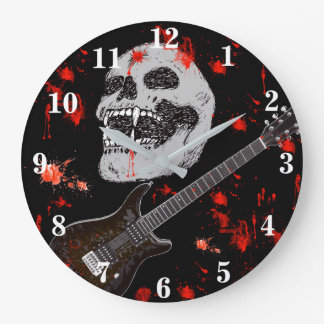 Death metal skull clock
