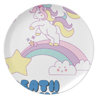Death Metal unicorn Plate