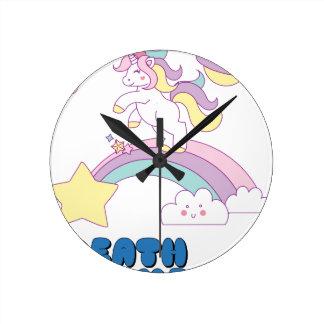Death Metal unicorn Round Clock