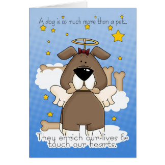 Death of a Dog Sympathy Card - Loss Of Pet Dog - D