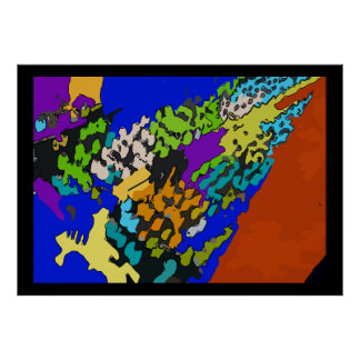 Death of Chef,  Colorful Abstract Poster