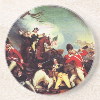 Death Of General Mercer at the Battle of Princeton Coaster
