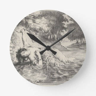 Death of Ophelia Round Clock
