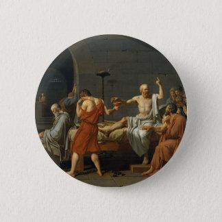 Death of Socrates 6 Cm Round Badge