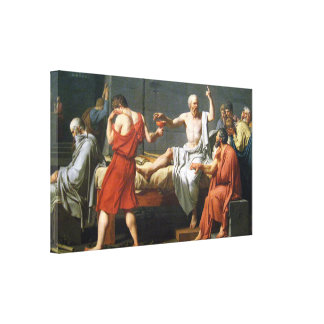 Death of Socrates by J.L. David - On Canvas ~
