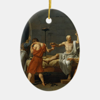 Death of Socrates Ceramic Ornament