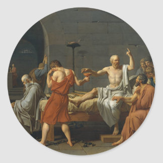 Death of Socrates Classic Round Sticker