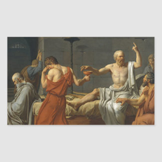 Death of Socrates Rectangular Sticker