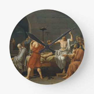 Death of Socrates Round Clock