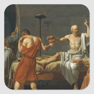 Death of Socrates Square Sticker