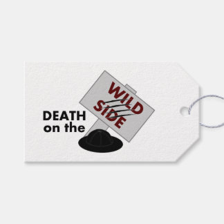Death on the Wild Side parcel tag