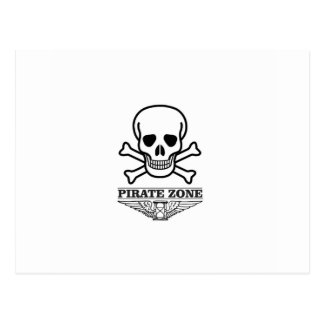 death pirate zone postcard