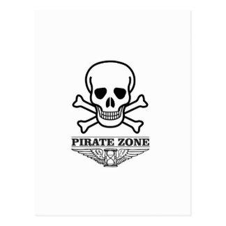 death pirate zone postcard