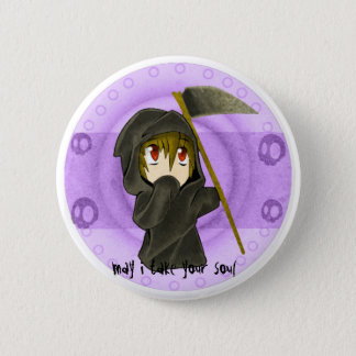 death purple 6 cm round badge