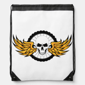 Death Ride Drawstring Bag