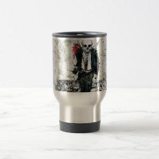 Death skeleton suite travel mug