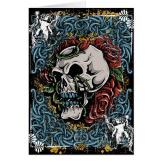 Death Skull Grave RIP Skeleton Greeting Card