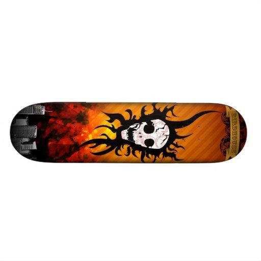 death skull skate board decks
