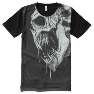 Death Skull T Shirt Halloween Teeth Slaughter