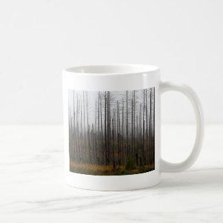 Death spruce trees coffee mug