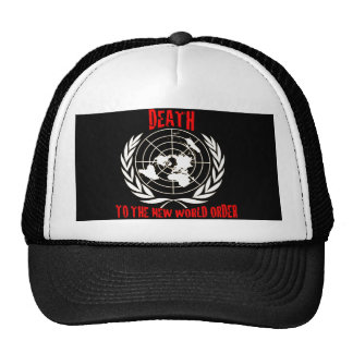 DEATH TO THE NEW WORLD ORDER MESH HATS