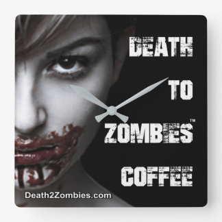 Death to Zombies Coffee Clock