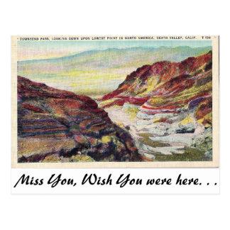 Death Valley, California Postcard