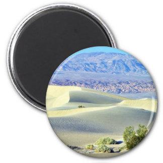 Death Valley Deserts Sand Dunes 6 Cm Round Magnet
