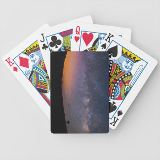 Death Valley milky way Sunset Bicycle Playing Cards
