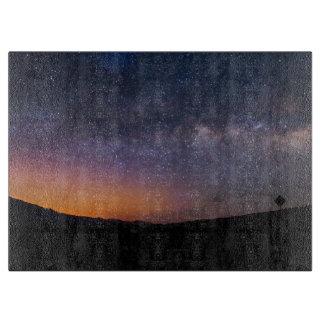Death Valley milky way Sunset Cutting Board